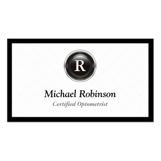 Certified Optometrist - Simple Stylish Monogram Pack Of Standard Business Cards