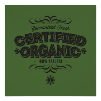 CERTIFIED ORGANIC Bold Star Posters