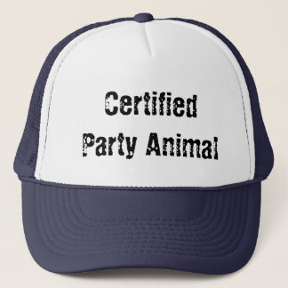 certified party animal trucker hat