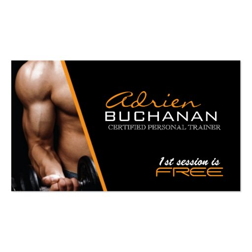 Certified personal trainer business card zazzle for Business cards for personal trainers