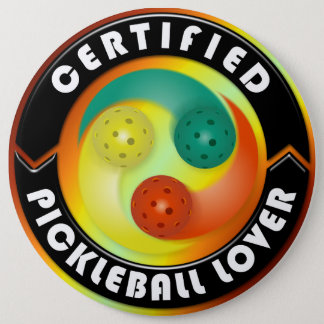 Certified Pickleball Lover 1 6 Cm Round Badge