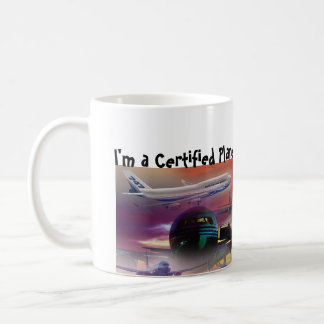 Certified Plane Addict! Classic White Coffee Mug