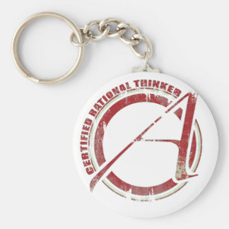 Certified Rational Thinker Basic Round Button Key Ring