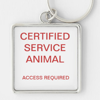Certified Service Animal Dog Tag Key Ring