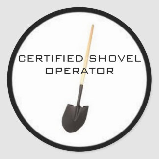 Certified Shovel Operator Sticker