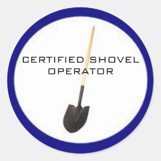 Certified Shovel Operator Sticker