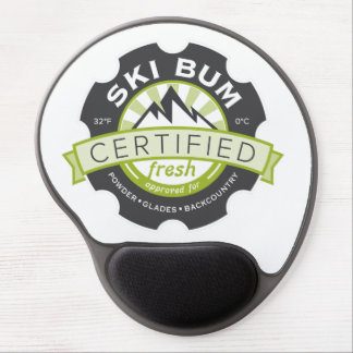 Certified Ski Bum Gel Mouse Pad