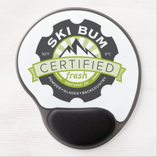 Certified Ski Bum Gel Mousepads