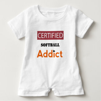 Certified Softball Addict Baby Bodysuit