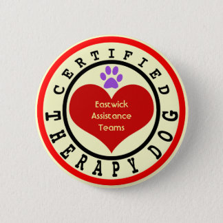 Certified Therapy Dog Organization 6 Cm Round Badge