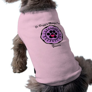 Certified Therapy Dog Organization Purple Flower Shirt