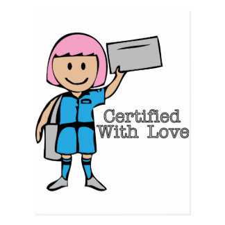 Certified With Love Postcard