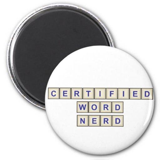 Certified Word Nerd Fridge Magnet