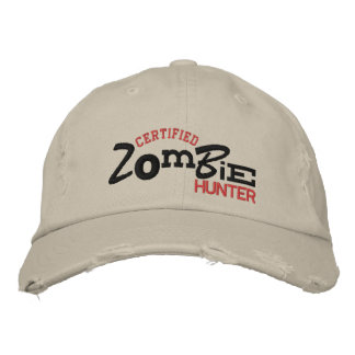 Certified ZOMBIE Hunter Halloween Embroidery Hat Embroidered Hat