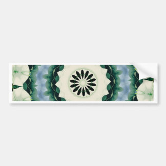 Cerulean Blue and Sacramento Green Mandala Bumper Sticker