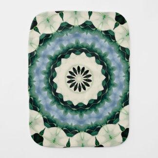Cerulean Blue and Sacramento Green Mandala Burp Cloth