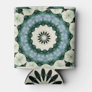 Cerulean Blue and Sacramento Green Mandala Can Cooler