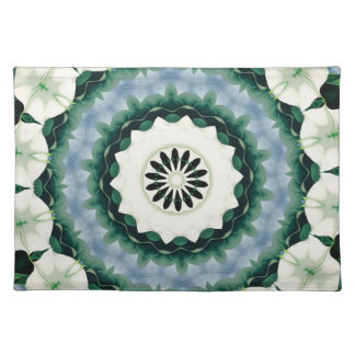 Cerulean Blue and Sacramento Green Mandala Placemat