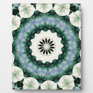 Cerulean Blue and Sacramento Green Mandala Plaque