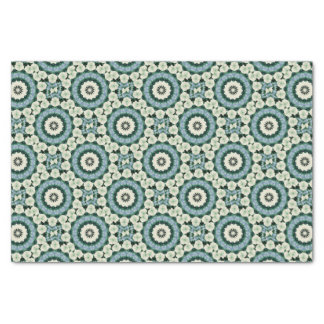 Cerulean Blue and Sacramento Green Mandala Tissue Paper