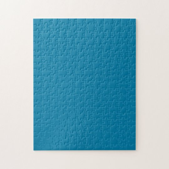 Cerulean Cool One Colour Challenging Jigsaw Puzzle