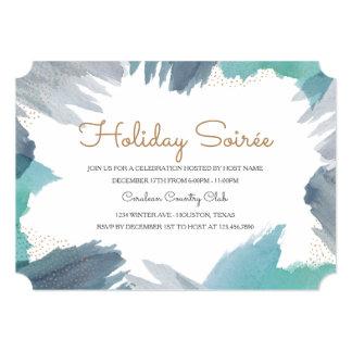 Cerulean Holiday Party 13 Cm X 18 Cm Invitation Card