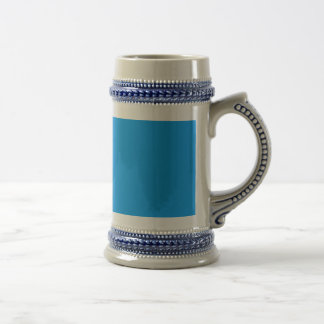 Cerulean Mid-Blue Tone Background. Elegant Color Coffee Mugs