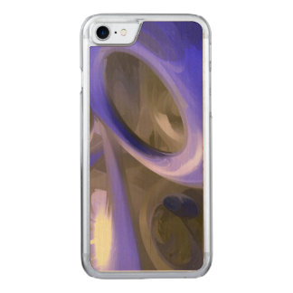 Cerulean Pastel Abstract Carved iPhone 7 Case