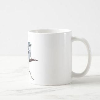 Cerulean Warbler: Bird: Oil Pastel Art on White Coffee Mug