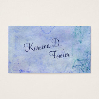 Cerulean Watercolor Business Card