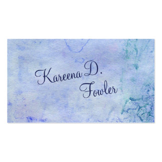 Cerulean Watercolor Pack Of Standard Business Cards