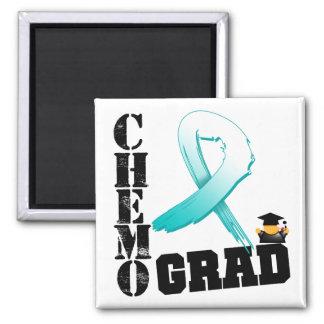 Cervical Cancer Chemo Grad Fridge Magnet