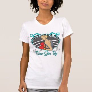 Cervical Cancer Fight Like A Girl Boxer Shirts