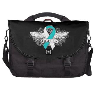 Cervical Cancer Fighter Wings Laptop Bag
