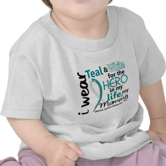Cervical Cancer For My Hero My Mommy 2 Tshirts