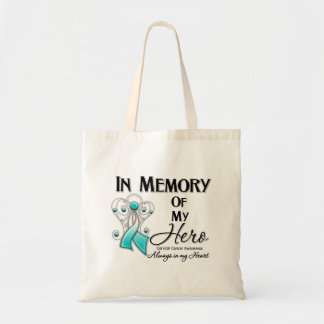 Cervical Cancer In Memory of My Hero Budget Tote Bag