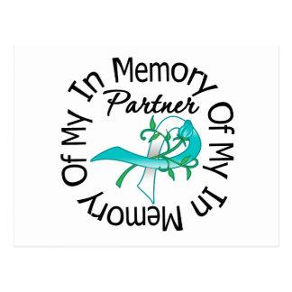 Cervical Cancer In Memory of My Partner Postcard