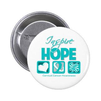 Cervical Cancer Inspire Hope Buttons