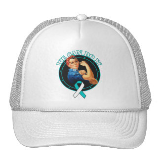 Cervical Cancer - Rosie The Riveter - We Can Do It Trucker Hat