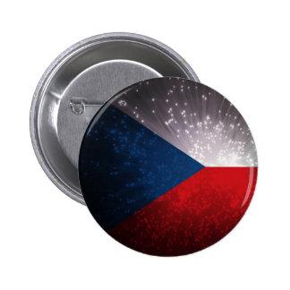 Česká republika Czech Flag Pinback Button