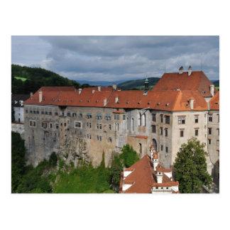 Cesky Krumlov castle postcard