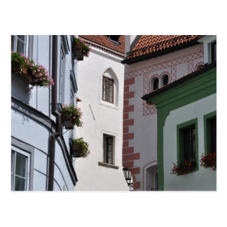 Cesky Krumlov old town postcard