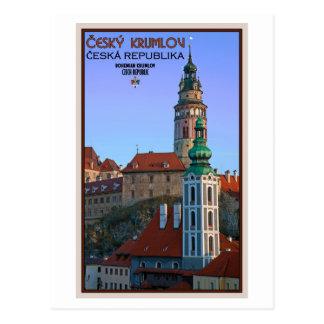 Cesky Krumlov - Two Towers Postcard