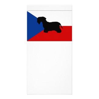 cesky terrier silo czech-republic flag photo greeting card