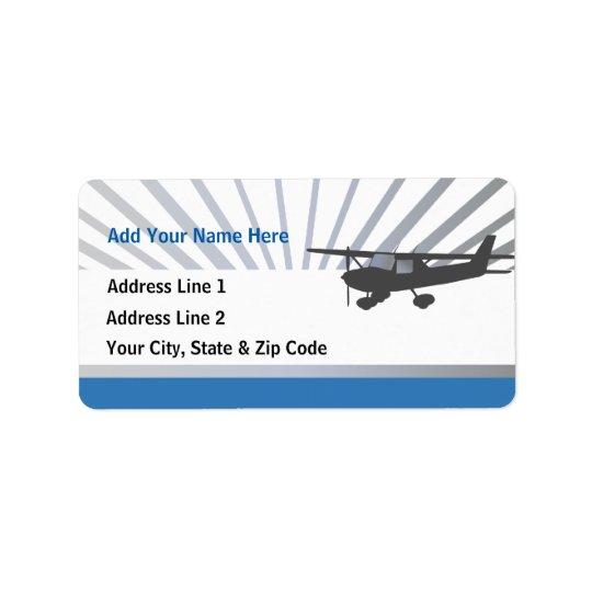 Cessna 150 Aeroplane Address Label