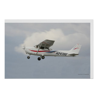 Cessna 172 on Takeoff Poster