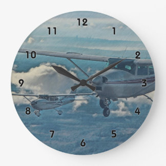 Cessna 182 - Seattle Large Clock
