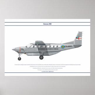Cessna 208 Bahamas Poster