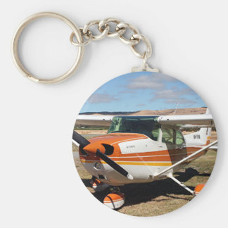Cessna aircraft basic round button key ring