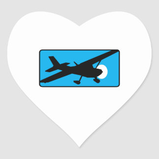 Cessna Airplanes Heart Sticker